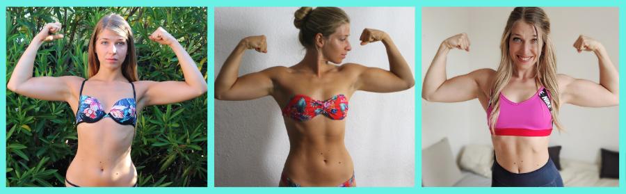 Résultats au bout de 3 ans de musculation pour femme en double biceps