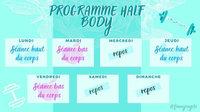 Programme Half body pour Femme avec séance haut du corps