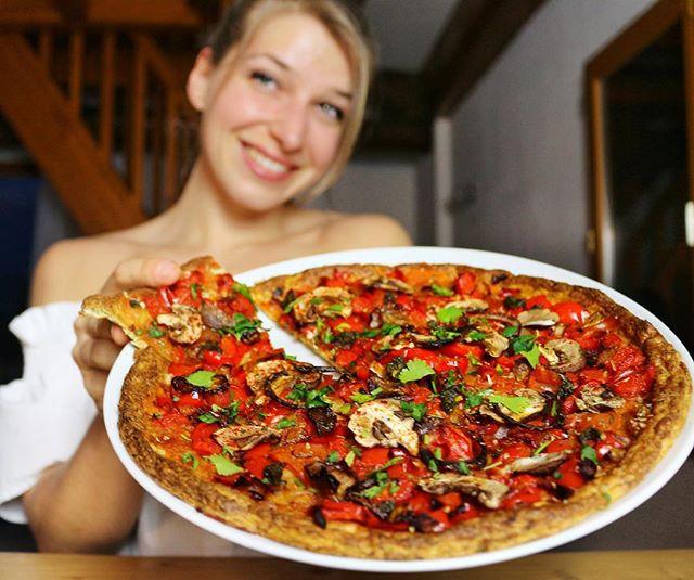 pizza adaptée à la diète des femmes !