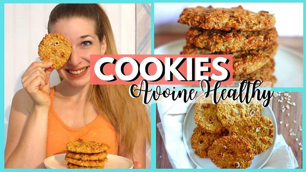 cookies aux flocons d'avoine healthy