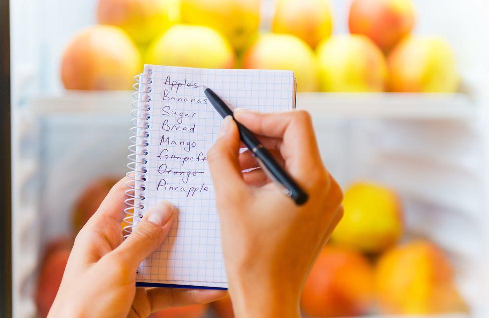 liste de course indispensable pour tenir sa diète