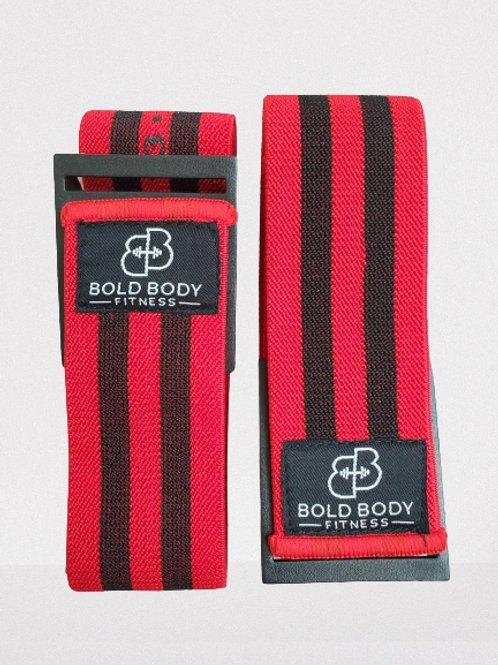 Bold Body Blood Flow Restriction Bands - Red