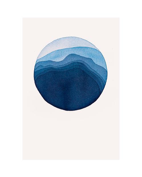 "Alexandra Jamieson, ""Meditation Blue Moon 1"",  2020"