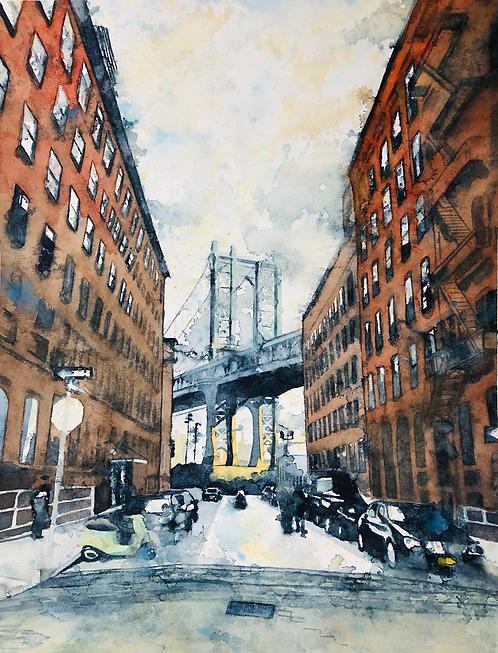 "Alexandra Jamieson, ""DUMBO Dreams of NYC 1"", 2019"