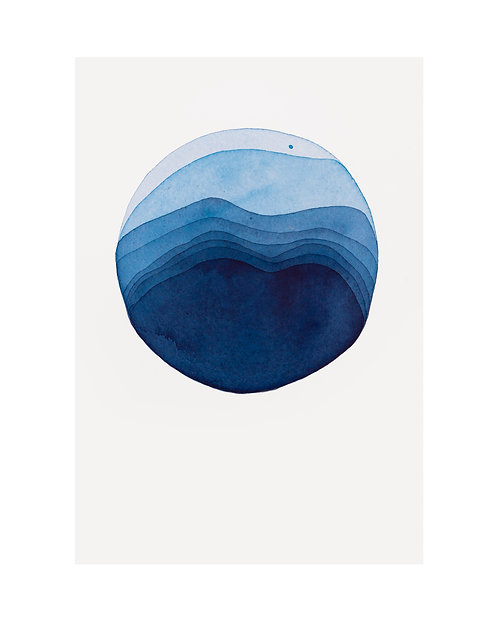 "Alexandra Jamieson, ""Meditation Blue Moon 2"",  2020"