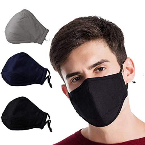 Fabric Face Masks w/ PM2.5 Filters 1pc