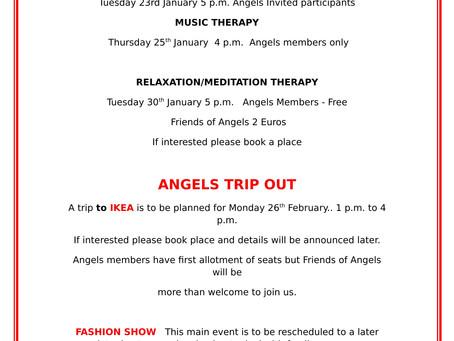 Angels Upcoming Events at Sensara