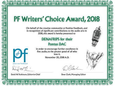 The 15th Annual Positive Feedback Writers' Choice Awards for 2018