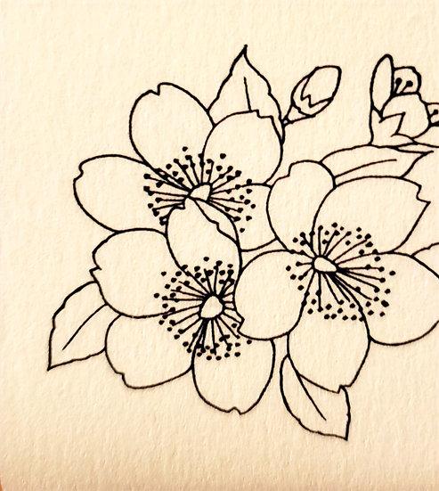 加賀友禅の技法でつくる みつろうラップ手づくりキット【春 さくら】