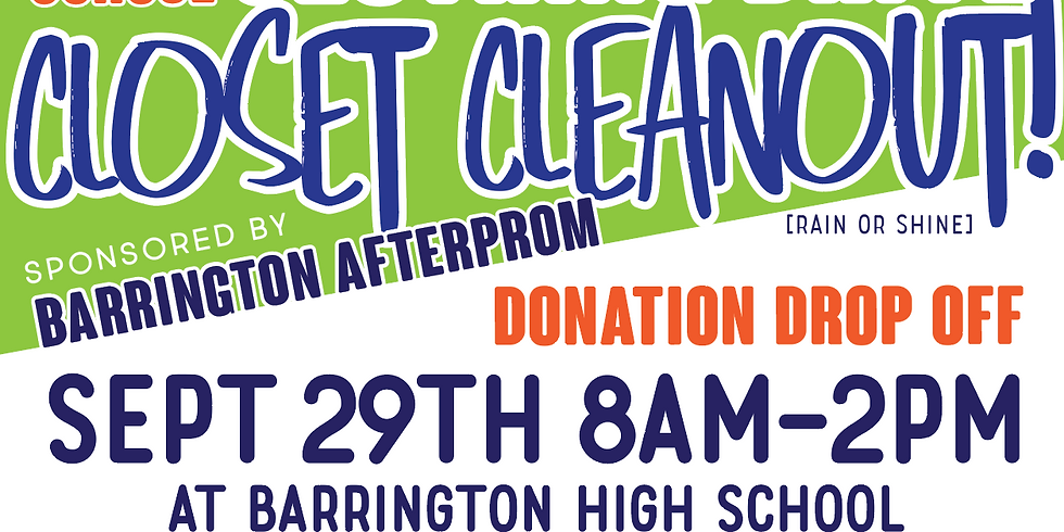 Back to School Closet Cleanout!!! CLOTHING DRIVE