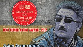 """Çin'den """"2017-Uluslararası En İyi Mizah Sanatçısı Ödülü"""""""