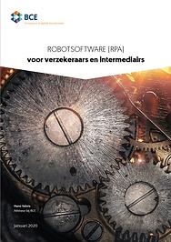 Voorkant Robotsoftware (RPA) voor verzek