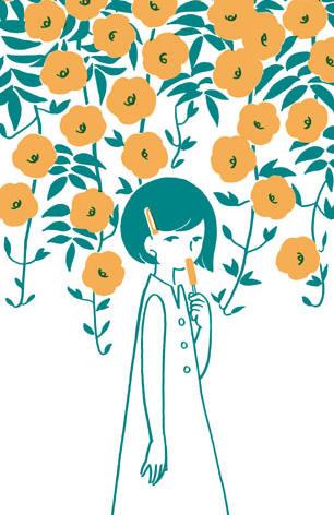 夏の三幅対/凌霄花