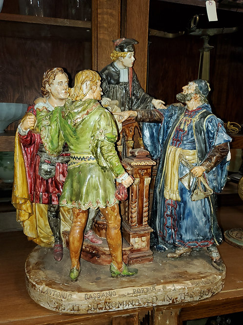John Rogers Painted Plaster Sculpture - Shakespeare Nominate