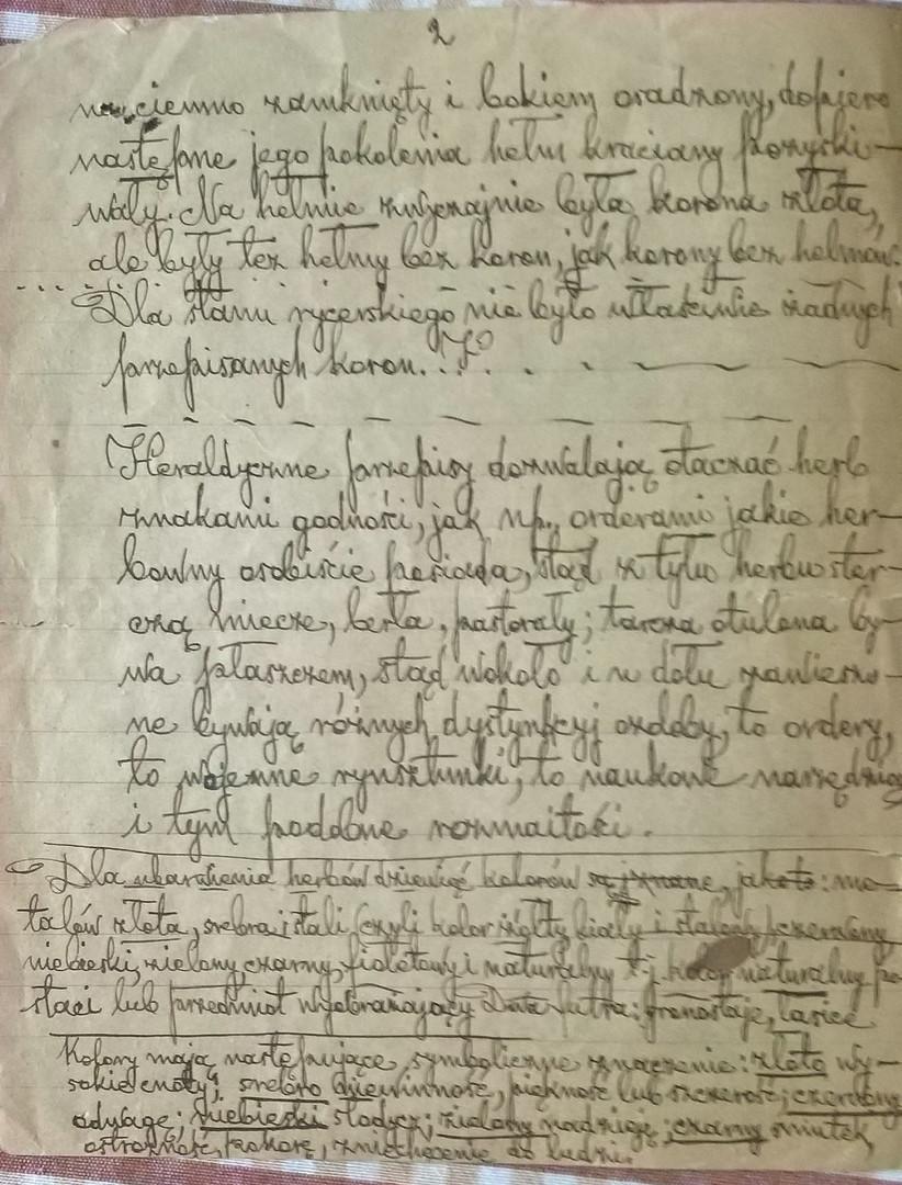 Notes de Dominik Zbierski Poray