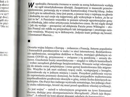 Un autre texte de Paweł Zbierski dans le trimestriel artistique Bliza