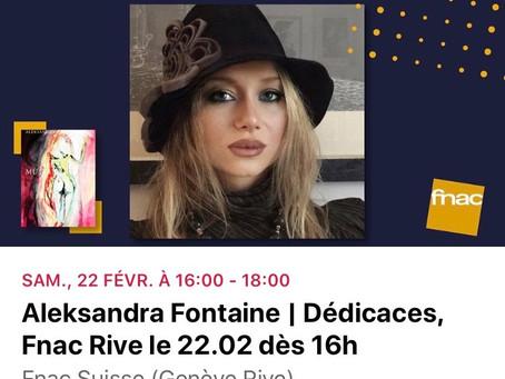 Aleksandra Fontaine avec MUSTANG à Genève - le 22 février 2020 - Fnac Suisse Genève Rive