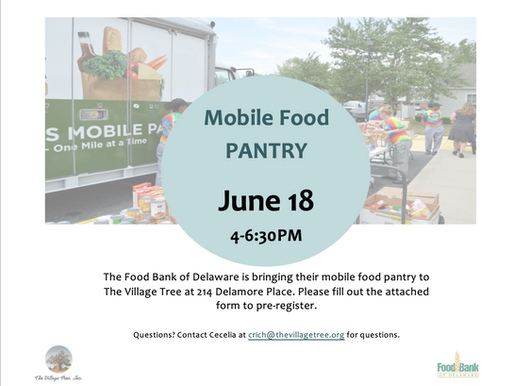 Mobile Food Pantry is coming to Delamore Place