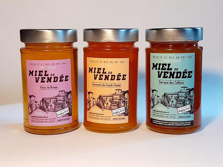 Miel de Vendée - Pack 3 SAVEURS