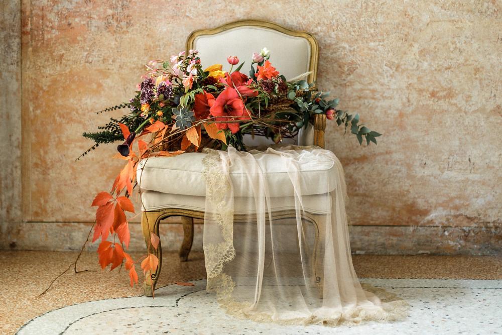 einzigartiger Boho Brautstrauß