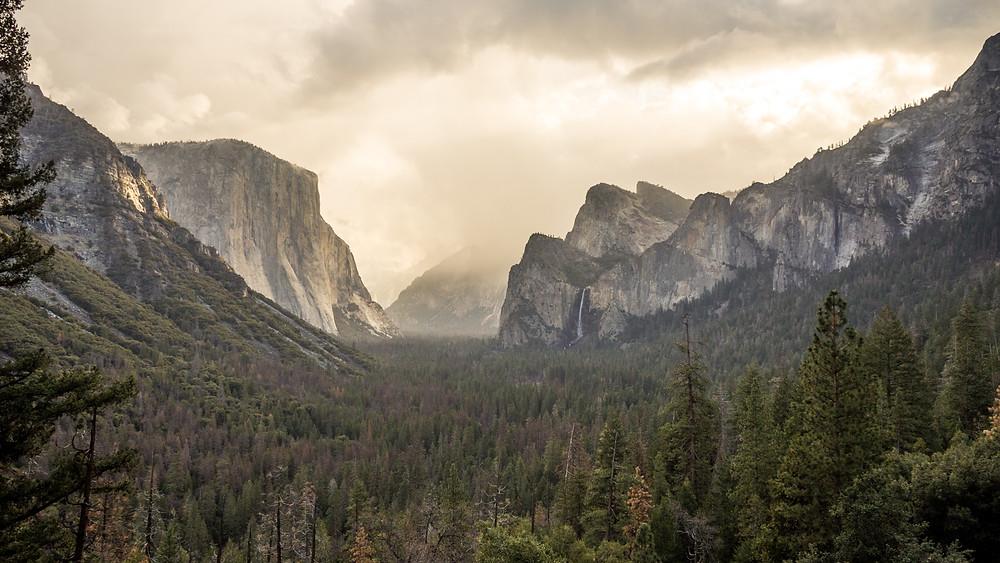 Tunnel View over Yosemite Nationalpark