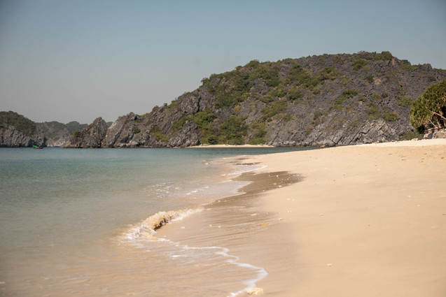 idyllic beach at monkey island in Vietnam