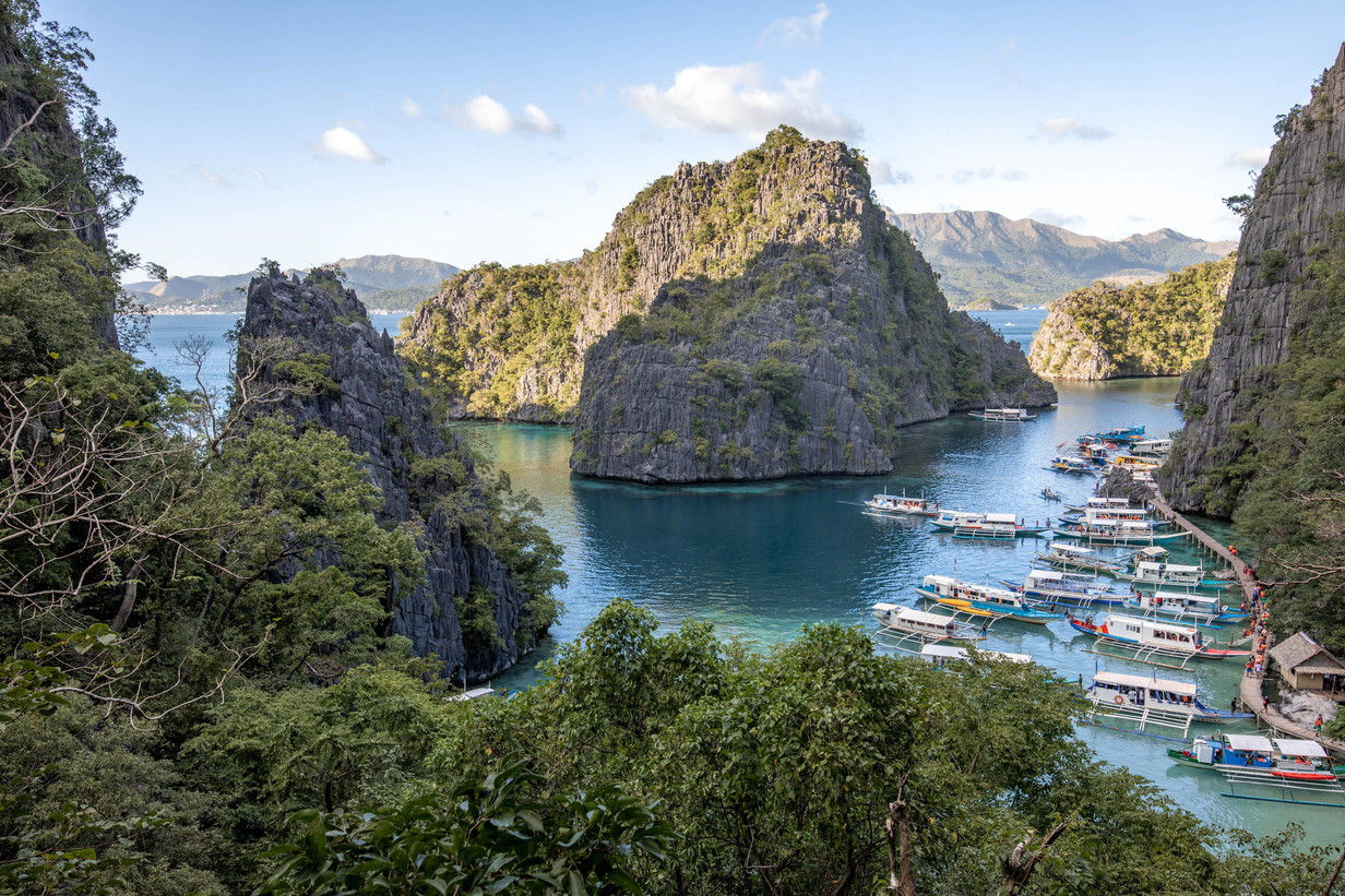 View on a Bay in Palawan Philippines