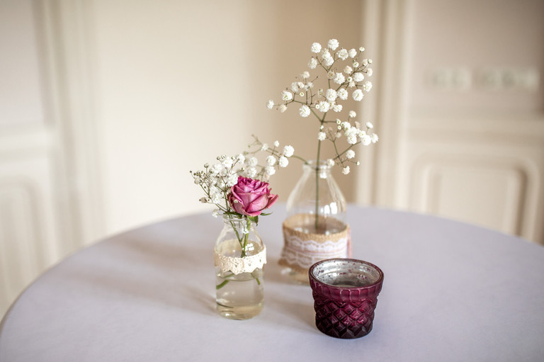 wedding decor on the tables - capture every single detail on weddings