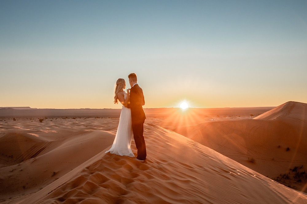 Wedding photos in the desert, morocco wedding photos