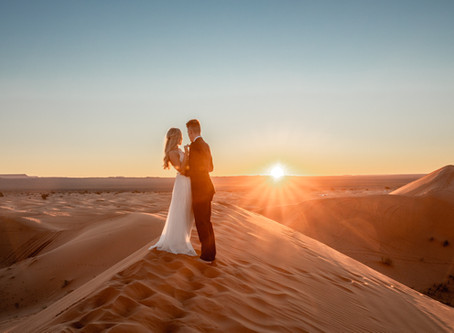 Elopement Fotos in der Sahara Wüste in Marokko