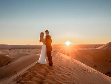 Elopement Fotos in der Sahara Wüste in Marokko
