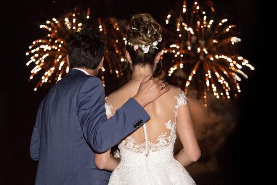 Feuerwerk Fotos bei der Hochzeit am Bodensee