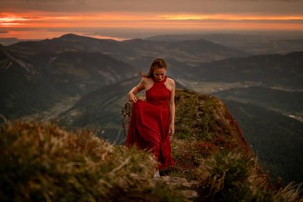 special photos on a mountaintop