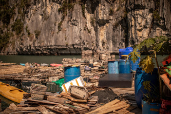 floating Village in Haling Bay in Vietnam