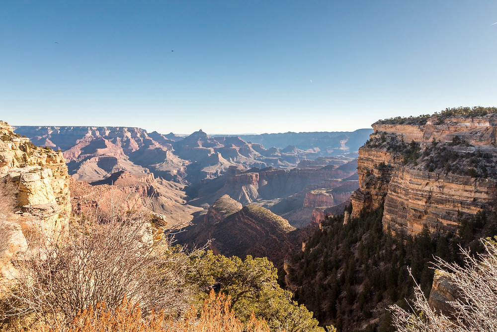 stunning view over Grand Canyon