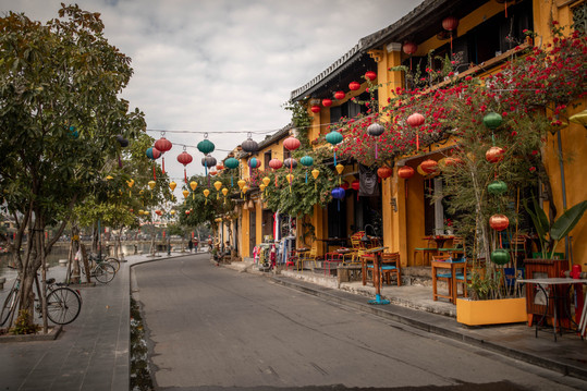 Colorful Lanterns at the old Town from Hoi An in Vietnam