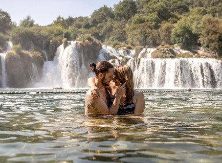 Paarfotos im Krka Nationalpark Kroatien