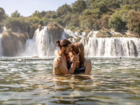 Couplephotos at Krka Nationalpark in Croatia