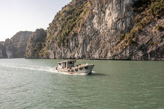 fishing boat at Ha Long Bay in Vietnam