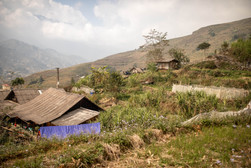 small ethnic villages near Sapa in the north of Vietnam