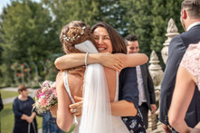 embrace the bride wildly - wild embrace - huge and love