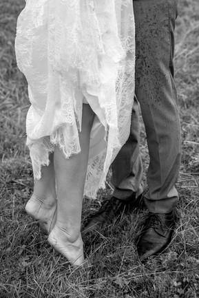 rainy weddingday in the mountains
