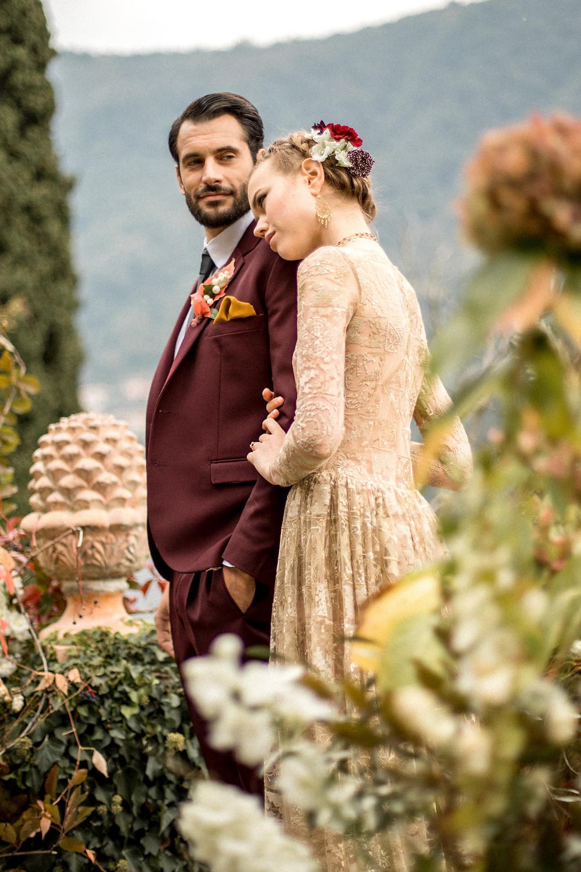 Hochzeitsfotos in einer historischen Villa am Comosee