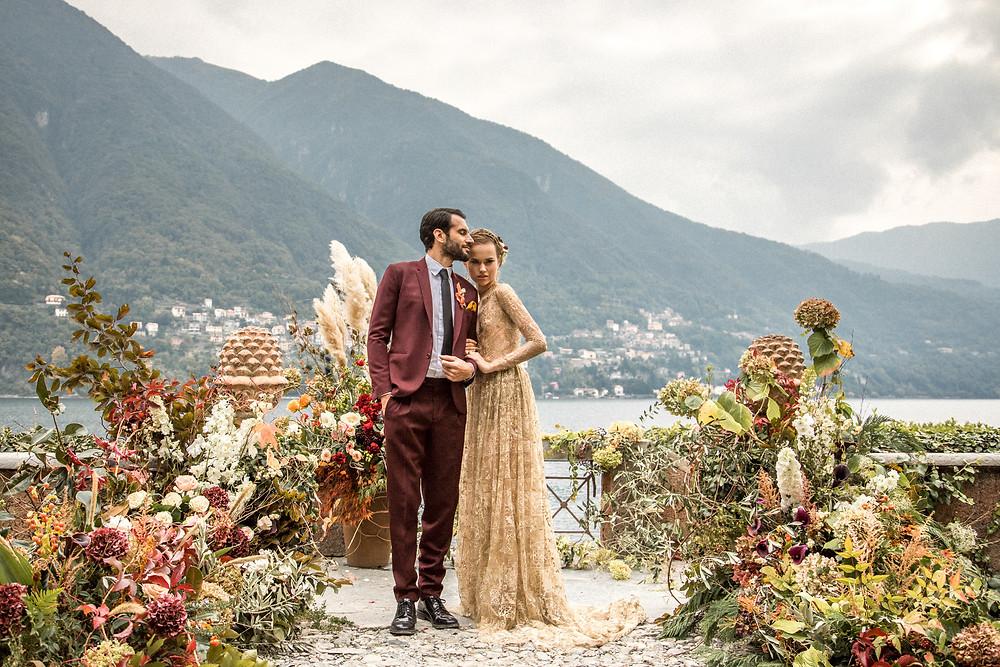 besondere Hochzeitsfotos an einer einzigartigen Location in Italien