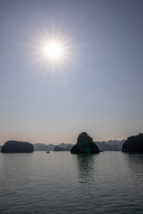 we had perfect weather for the boat tour in Ha Long Bay in Vietnam