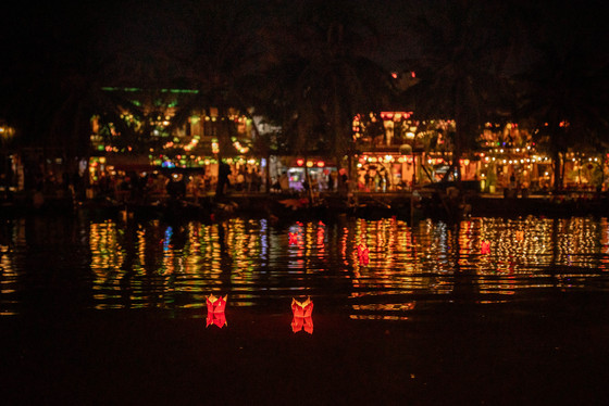 Full Moon Lanterns party on the River from Hoi An in Vietnam