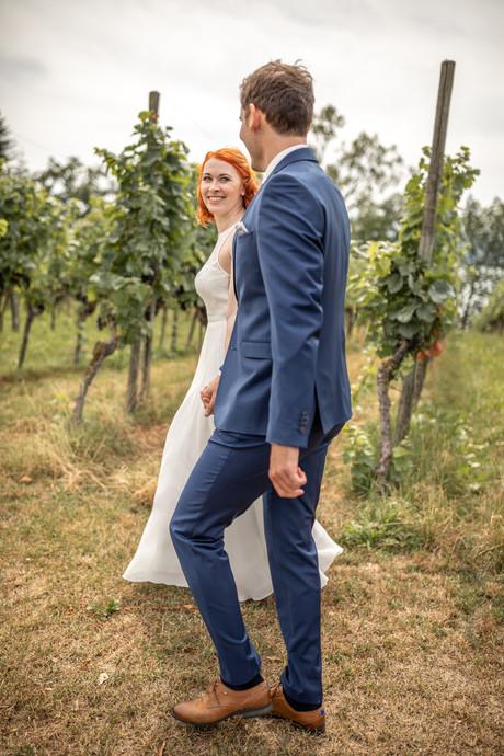 Brautpaarfotos in den Weinbergen