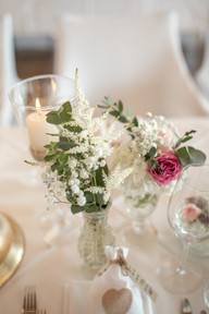 table decor from a wedding on lake constance