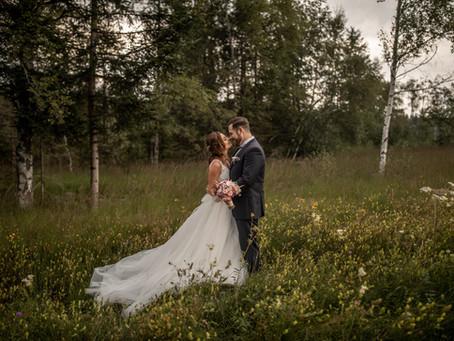 Romantische Hochzeits Fotos in der Villa Raczynski in Bregenz