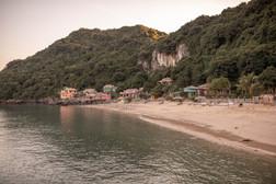 resort at the sand beach in Vietnam